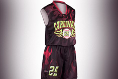 customized basketball uniform design